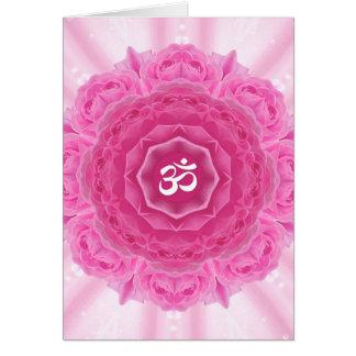 Roses Mandala, Greeting Card