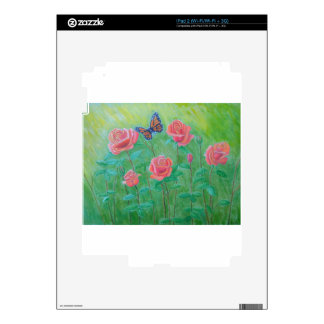 roses meadow decal for iPad 2