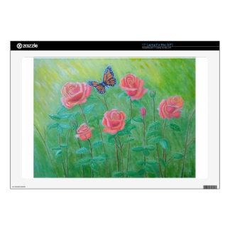 roses meadow laptop skins