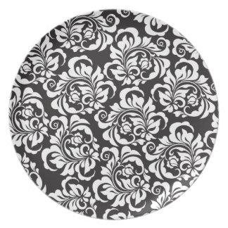 roses melamine plate