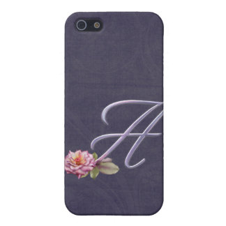 Roses Monogram A iPhone SE/5/5s Cover