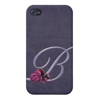 Roses Monogram B iPhone 4/4S Cases