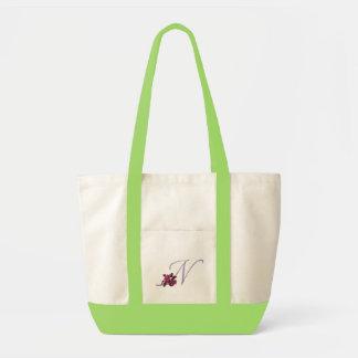 Roses Monogram N Tote Bag