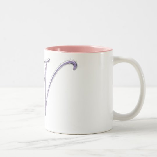 Roses Monogram N Two-Tone Coffee Mug