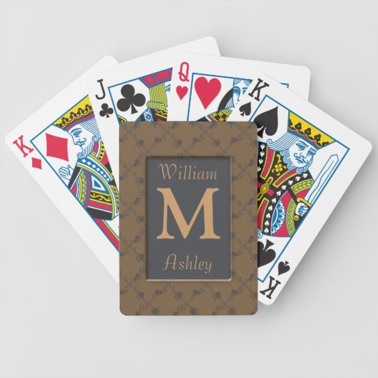 Roses Monogrammed Playing Cards