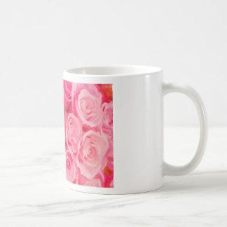 roses classic white coffee mug
