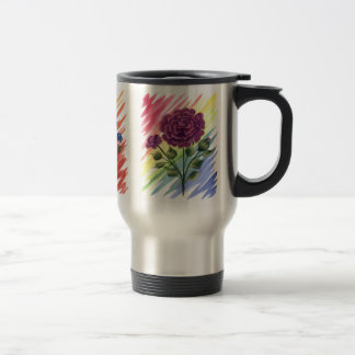 Roses Mug. (Travel) 15 Oz Stainless Steel Travel Mug