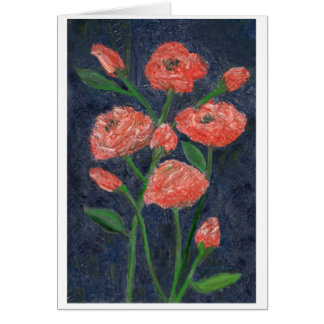 Roses Note Card by JD Holiday