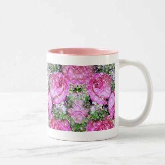 Roses of bubbles_ Two-Tone coffee mug