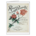 Roses of Picardy Vintage Songbook Cover Card