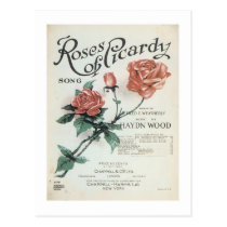 Roses of Picardy Vintage Songbook Cover Postcard
