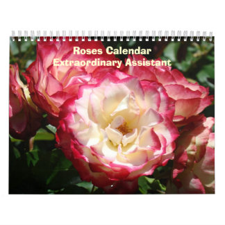Roses Office Calendar Start in any Month Assistant