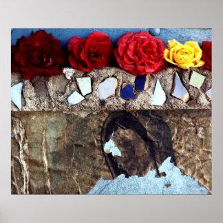 Roses On A Shrine Poster