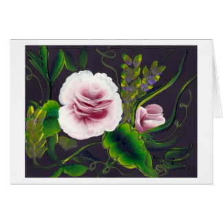 roses on black by ruby dubin card