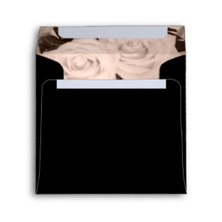 Roses on Black Envelope