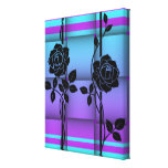 Roses on Blue Canvas Canvas Print