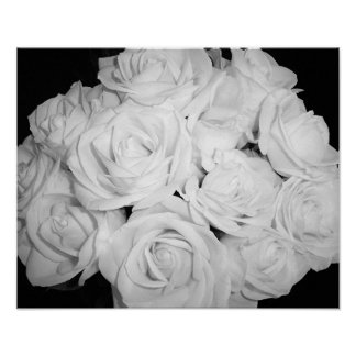 Roses on Canvas Poster