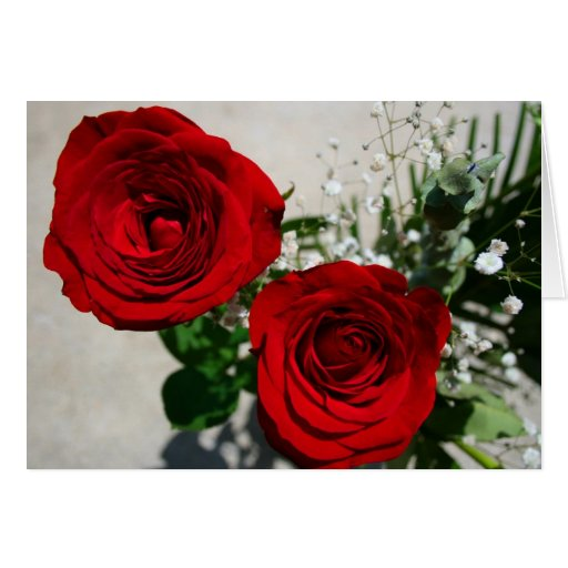 Roses on Front, Roses inside with calendar Greeting Card