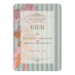 Roses On Linen - Save The Date Invitation Card