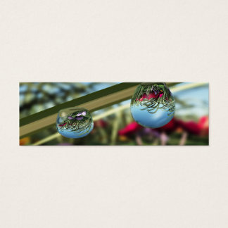 Roses on Raindrops Bookmarks Mini Business Card