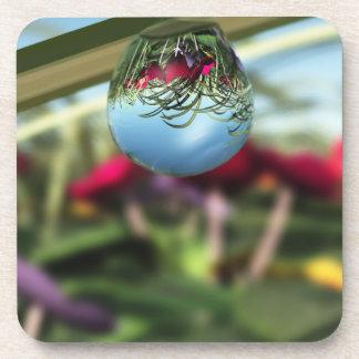 Roses on Raindrops Cork Coaster
