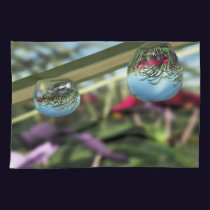 Roses on Raindrops Kitchen Towel