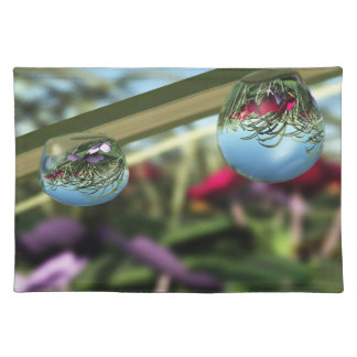 Roses on Raindrops Placemat Cloth Place Mat