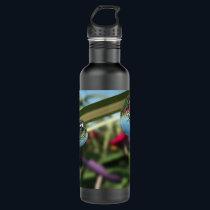 Roses on Raindrops Stainless Steel Water Bottle