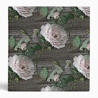 Roses on Weathered Wood Binders