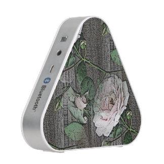Roses on Weathered Wood Bluetooth Speaker