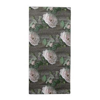 Roses on Weathered Wood Cloth Napkin