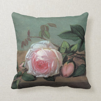 Roses Painting by Otto Didrik Otte Throw Pillow