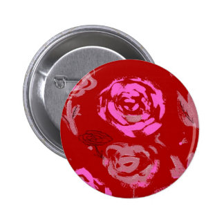 Roses Painting red background abstract Buttons
