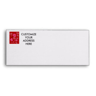 Roses Painting red background abstract Envelope
