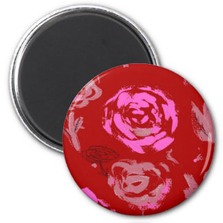 Roses Painting red background abstract Fridge Magnets