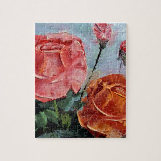 Roses Palette Knife Jigsaw Puzzle