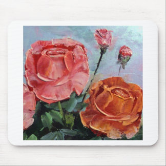 Roses Palette Knife Mouse Pad