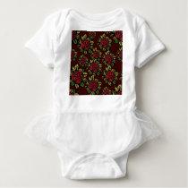 Roses pattern baby bodysuit
