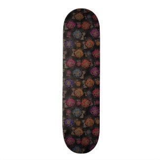 Roses Pattern Fabric Skateboard