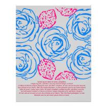 Roses pattern flyer