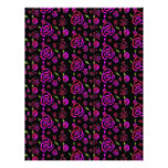 Roses Pattern Pink Personalized Letterhead