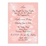 Roses Peach Engagement Invitation