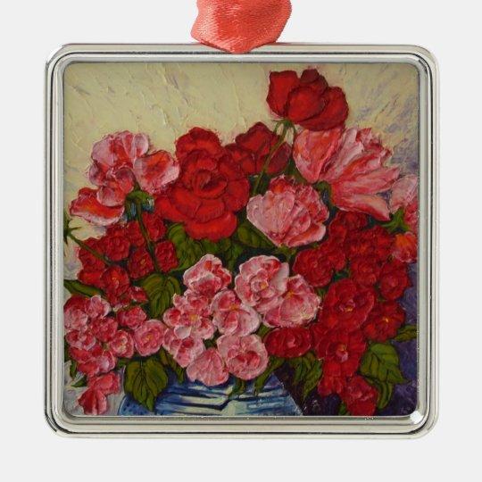 Roses & Peonies Ornament