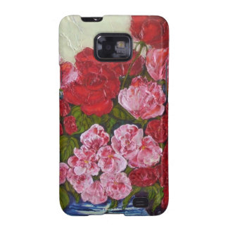 Roses & Peonies Samsung Galexy Case Galaxy SII Covers