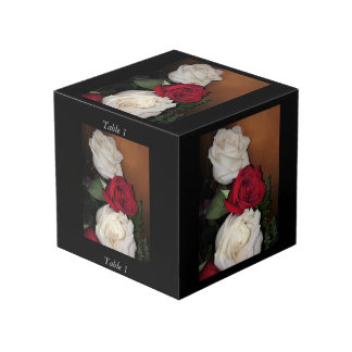 Roses Photo Cube with Table Number