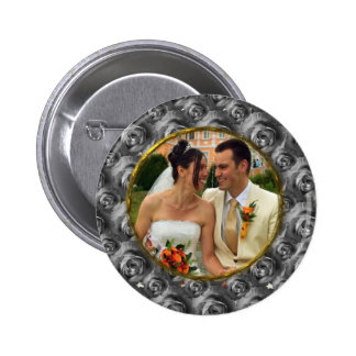 Roses/Photo Pinback Button