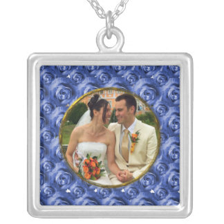 Roses/Photo Silver Plated Necklace