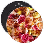 roses pinback buttons
