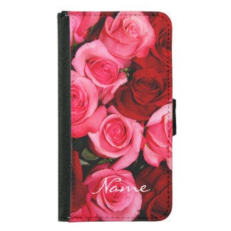 Roses, Pink and Red-Galaxy s5 Wallet Case