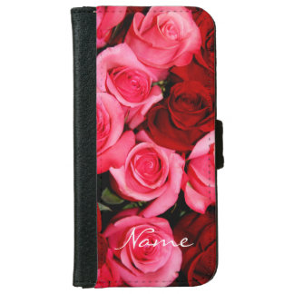 Roses, Pink and Red-iPhone 6 Wallet Case